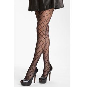 4 x Nordstrom Faux Stringer Control Top Pantyhose